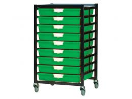 Metal Rack with 9 Plastic Drawers