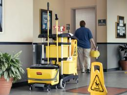 Rubbermaid Microfibre Cleaning Cart