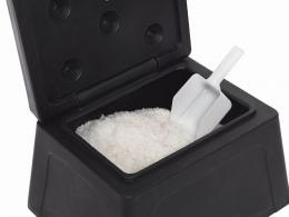 Mini grit bin with salt