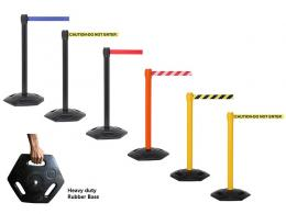 Outdoors Belt Barrier and heavy duty rubber base