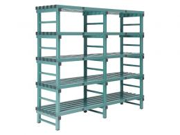 Plastic Euro Shelving Double Bay