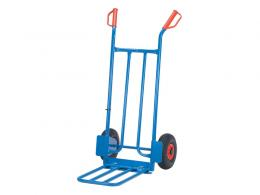 Pneumatic folding toe sack truck