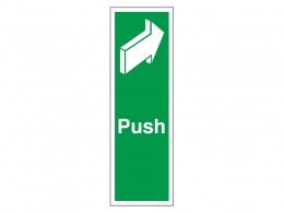 """Push"" Fire Exit Sign"