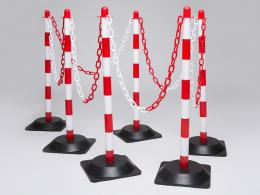 Red & White Rubber Base Chain Post