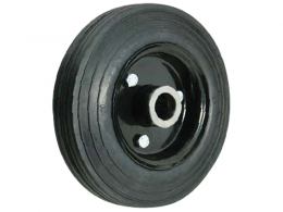 Ribbed Cushion Tyre Plastic Centre Wheels