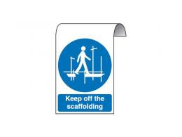 Scaffolding Roll Top Sign