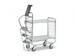 2 Shelf Light Duty Step Trolley