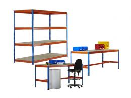 Shelving and Twin Workbench Kit