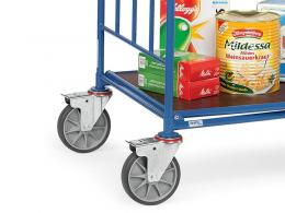 Cash and carry trolley with Rubber Tyred Castors