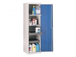 Single Door Workshop Cupboard with 2 Drawers and 2 Shelves
