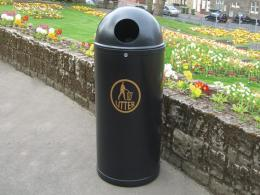 Slimline outdoor litter bin