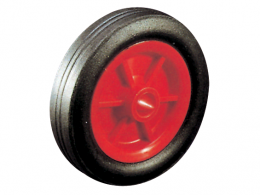 Solid Rubber Tyre Plastic Centre Wheels