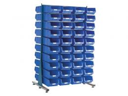 Spacemaster Double Sided Rack with 80 x Size 4 Bins