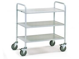 3 shelf model steel office trolley