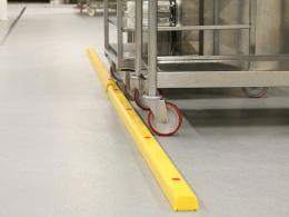 Stommpy flexible impact warehouse barriers
