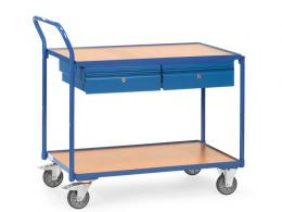 Table Top Cart With Retention Rim & Drawers
