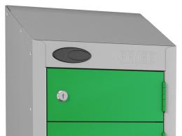 Sloping locker top