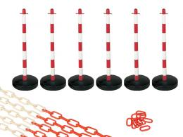 Water Base Red and White 6 Post Plastic Chain Kit