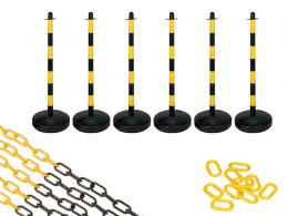 Water Base Yellow and Black 6 Post Plastic Chain Kit