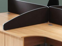 Wave Top Desk Mounted Office Screens