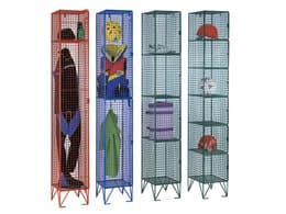 6 Door Wire Mesh Clothing Locker