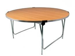 Real Wood Folding Round Table