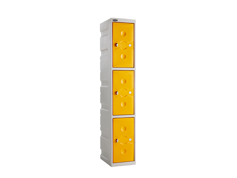 3 Door Water Resistant Plastic Locker