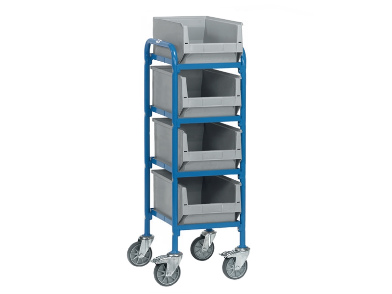 Plastic storage trolley