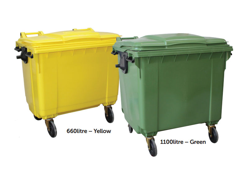 Bins with 4 wheels