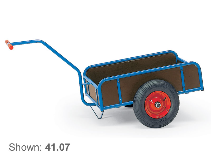 4-Side 2 Wheel T-Bar Handle Platform Cart