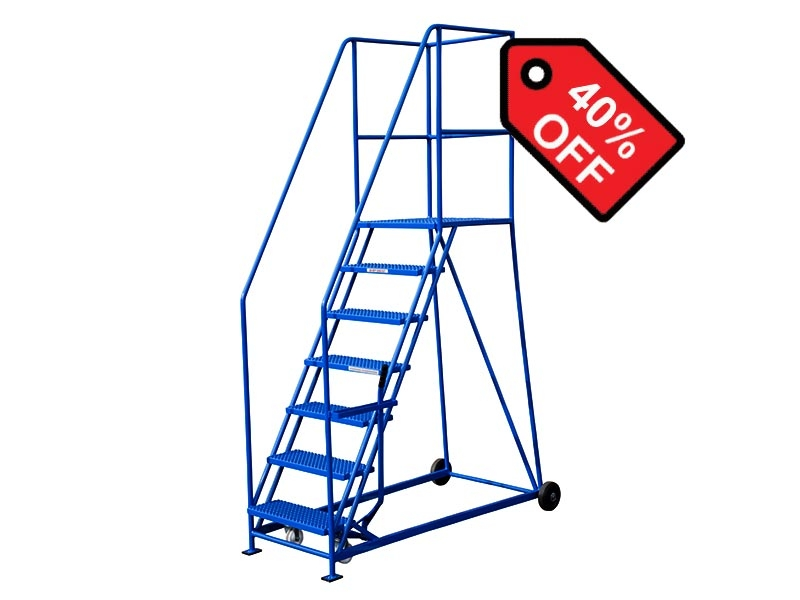 7 Tread 1600mm High Safety Steps