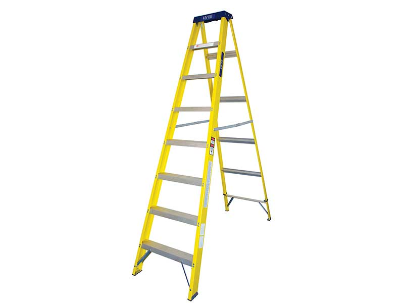 8 Tread Fibreglass Step Ladders
