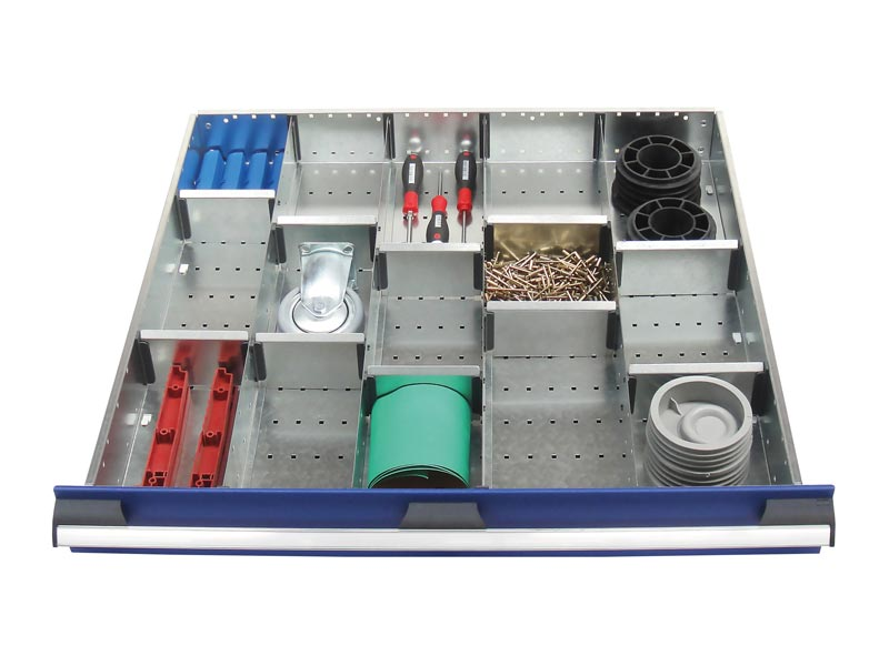 800mm Wide 15 Compartments, Metal