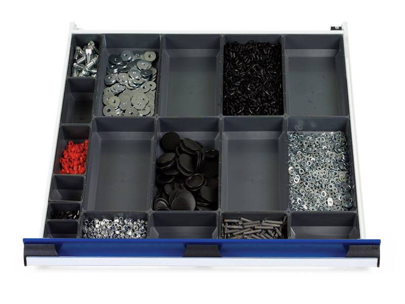 800mm Wide 18 Compartments, Plastic