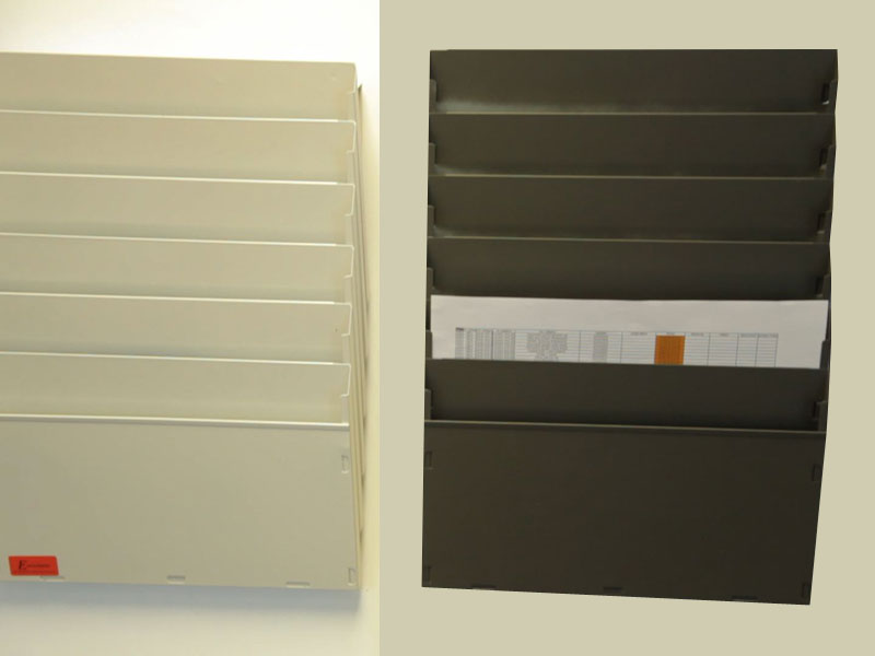 A4 Document Cascading System Magnetic Backed on Wall Mounted Storage Furniture