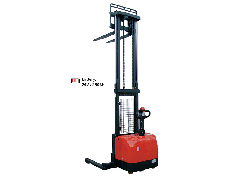 1400kg Fully Powered Straddle Pallet Stacker
