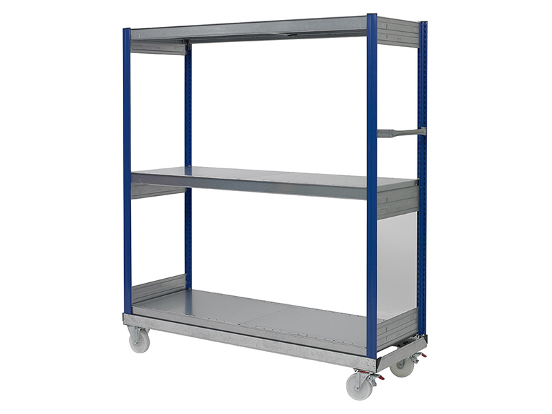 3 Shelf Order Picking Trolley