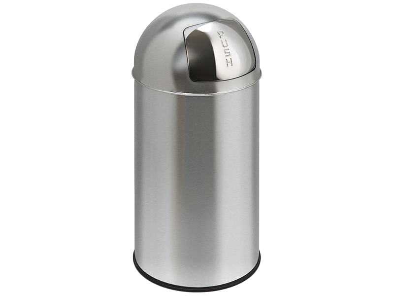 Dome Top Waste Bin - Matt Stainless Steel