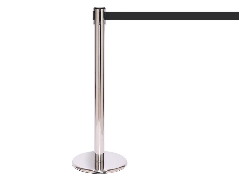 Polished Stainless Retractable Belt Barrier
