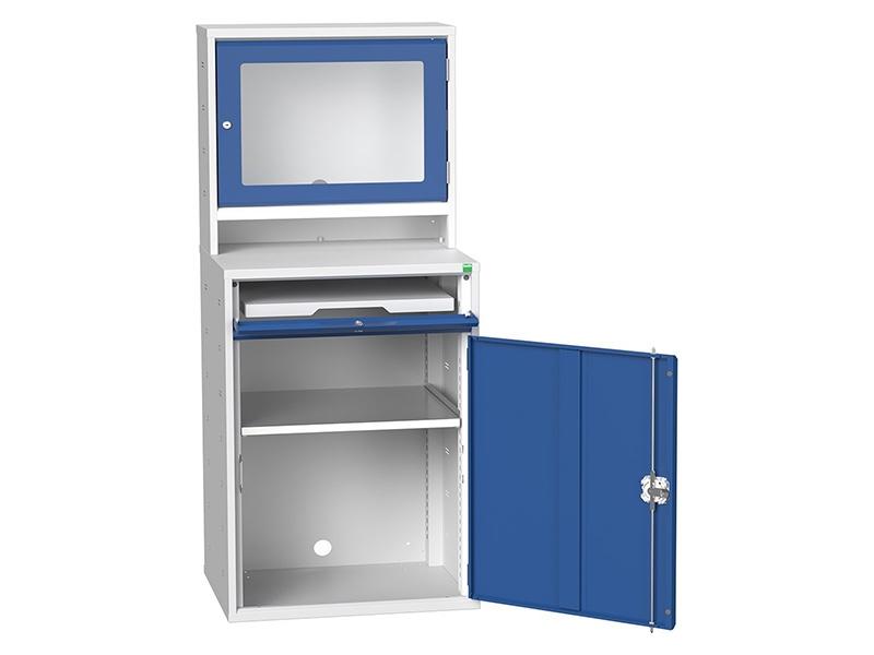 Enclosed Top Computer Cabinet Open Door