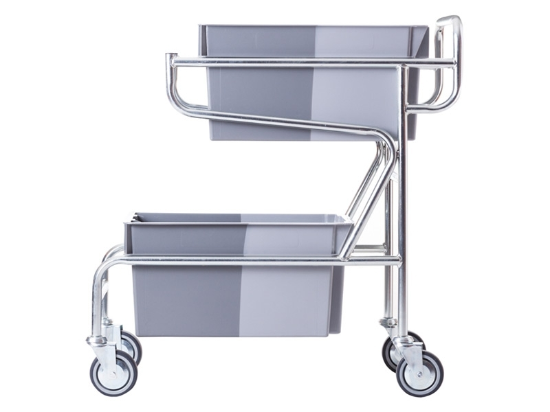Stock picking container trolley