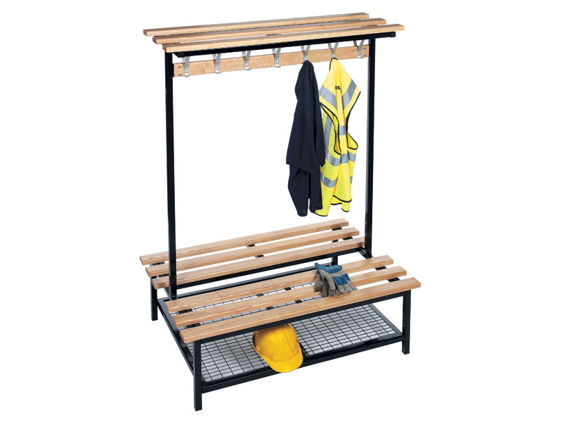 Buy Double Sided Wooden Changing Room Bench Free Delivery