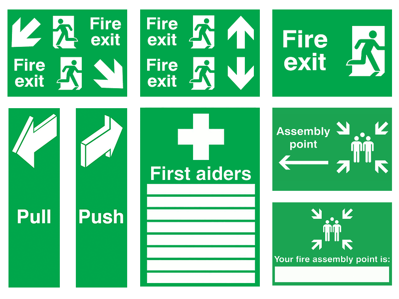 Fire Exit & First Aid Signs