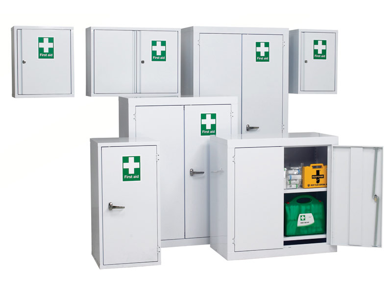 first aid cabinet buy industrial aid floor cabinets free delivery 15455
