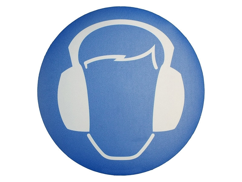 Buy Ear Protection Symbol Floor Graphic Marker Free Delivery