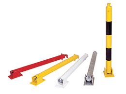 Buy Yellow Keylock Hinged Parking Post Free Delivery