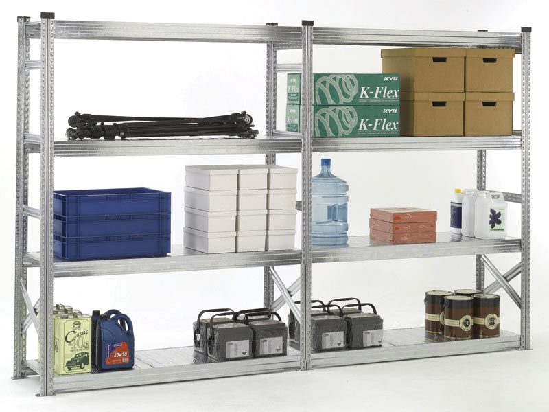 Galvanised Steel Long Span Shelving