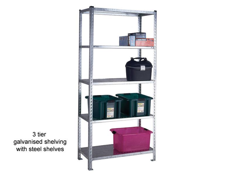 Buy Galvanised Standard Duty Quick Build Shelving Free