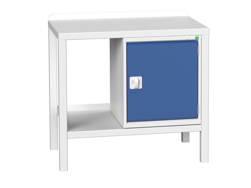 Heavy Duty Static Workbench, Steel Top, Cupboard