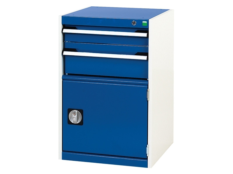 High Capacity 525x525mm Cabinet, 2 Drawer, 1 Cupboard